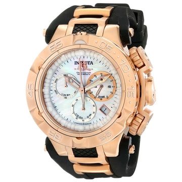 Invicta 17238 Women's Subaqua Noma V Steel & Silicone Strap MOP Dial Chrono Dive Watch