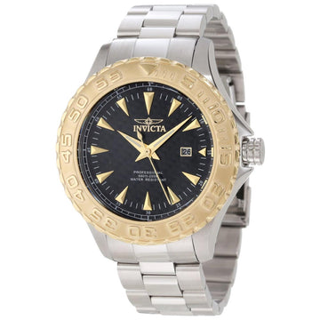 Invicta 12556 Men's Pro Diver Ocean Ghost Gold Tone Bezel Steel Bracelet Watch