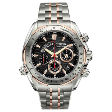 Citizen BZ0016-50E Men's Signature Grand Complication Two Tone Titanium Black Dial Chrono Watch