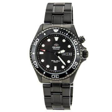Orient EM65007B Men's Ray Raven Black Ion Plated Automatic Black Dial Watch