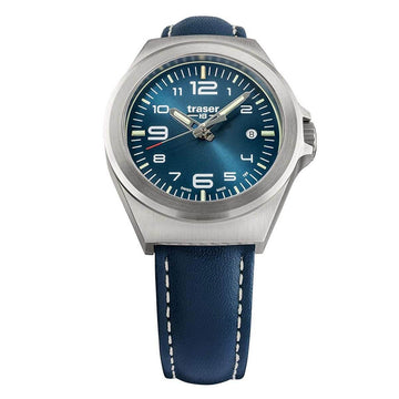 Traser Unisex Strap Watch - P59 Essential S Blue Leather Blue Dial | 108208