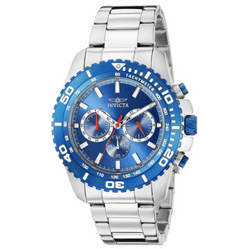 Invicta 19843 Men's Pro Diver Blue Dial Stainless Steel Bracelet Chronograph Watch
