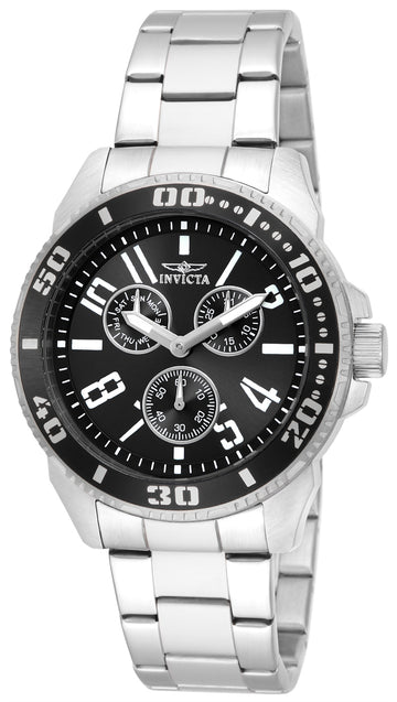 Invicta 16938 Men's Pro Diver Black Dial Stainless Steel Bracelet Watch