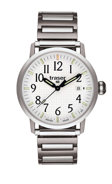 Traser T 4102 Men's Classic Basic White Watch