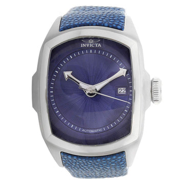 Invicta 24029 Men's Lupah Blue Dial Blue Leather Strap Automatic Watch