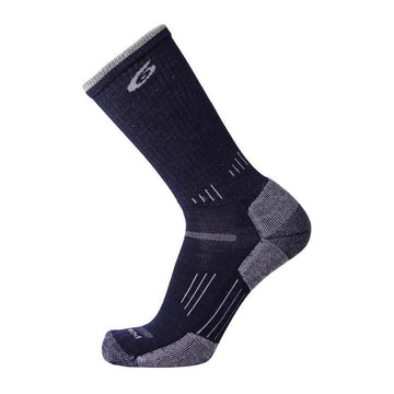Point6 Socks - Hiking Essential Dark Navy Merino Wool Medium Crew | 2530-233