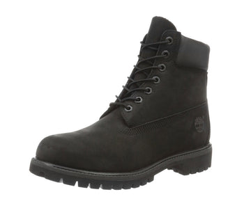 "Timberland C10073 Men's Classic Premium Black Nubuck Leather Lace Up Waterproof Boots, 6"" High"