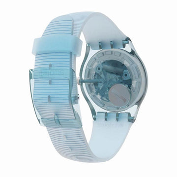 Swatch Unisex Strap Watch - Heroes Pool Surprise Blue Silicone | SUOS107