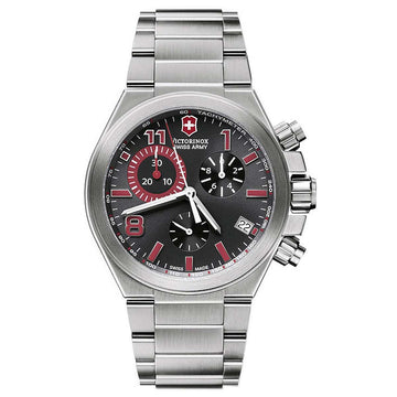 Swiss Army 241317 Men's Convoy Chrono Black Dial Stainless Steel Bracelet Watch