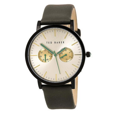 Ted Baker 10009273 Men's Jaknite Quartz Grey Leather Strap Silver Tone