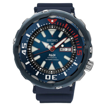 Seiko SRPA83K1 Men's Prospex Blue Dial Blue Urethane Strap Automatic Dive Watch