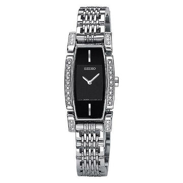 Seiko SUJC51 Women's Tressia Black Dial Steel Bracelet Diamond Watch
