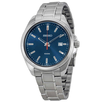 Seiko SUR059 Men's Dress Blue Dial Quartz Steel Bracelet Watch