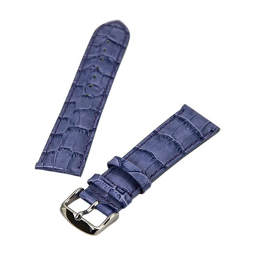 Debeer Lilac 22 mm Wide Crocodile Grain Leather Strap