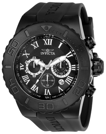 Invicta Men's Chronograph Watch - Pro Diver Black Dial Polyurethane Strap | 24779