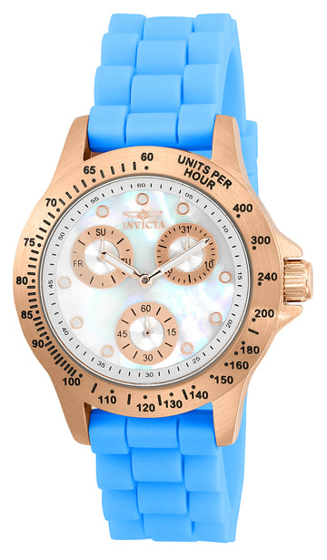 Invicta Women's Silicone Strap MOP Dial Watch - Speedway Quartz Day-Date | 21990