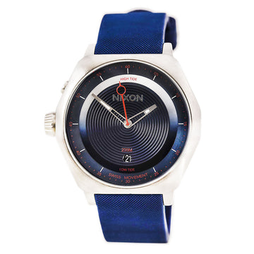 Nixon A271307 Men's The Decision Lefty Navy Blue Silicone Strap Navy Blue Dial Swiss Dive Watch