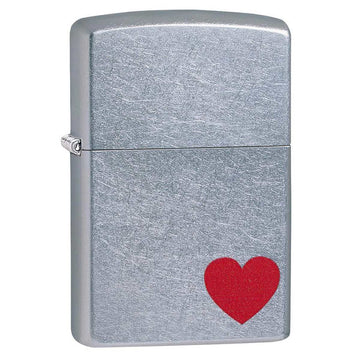 Zippo Windproof Pocket Lighter - Love Red Heart Street Chrome | 29060