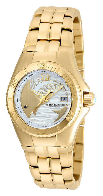 Technomarine Women's Bracelet Watch - Cruise Dream Yellow Gold Steel | TM-115200