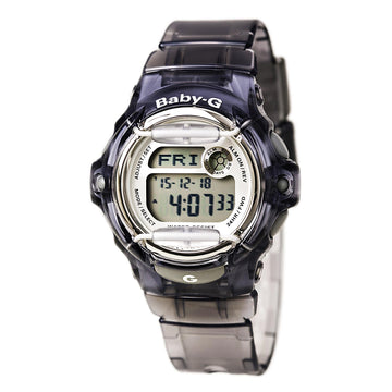 Casio Women's Digital Alarm Watch - Baby-G Grey Dial Transparent Strap | BG169R-8