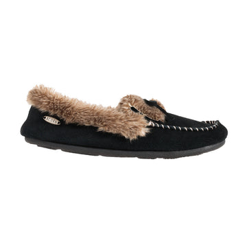 Acorn Women's Slipper - Cozy Fur Moc, Mineral Blue | A18609