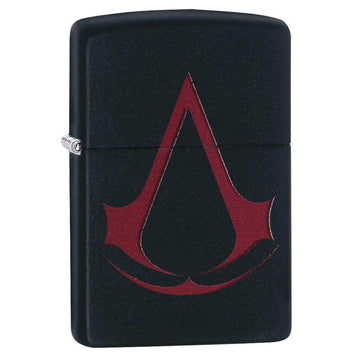 Zippo Windproof Pocket Lighter - Classic Assassin's Creed Black Matte | 29601