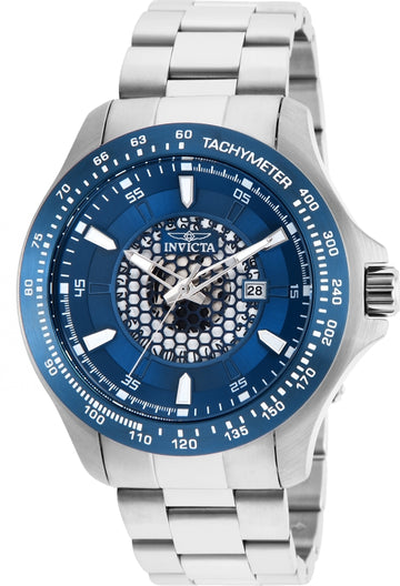 Invicta 25336 Men's Speedway Blue Dial Stainless Steel Bracelet Quartz Watch