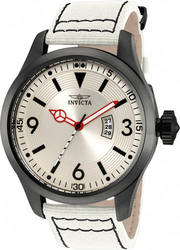Invicta 19419 Men's Aviator Light Grey Dial Light Grey Nylon Strap Watch