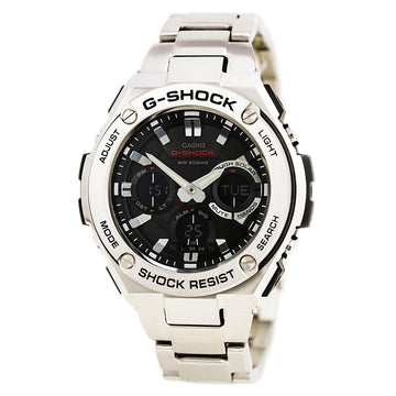 Casio Men's Dive Watch - G-Shock Solar Powered Ana-Digital Black Dial | GSTS110D-1A