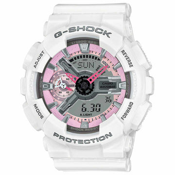 Casio Women's Alarm Watch - G-Shock S Series Dive Ana-Digi Grey Dial | GMAS110MP-7A