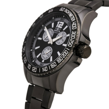 Invicta 7011 Men's Gunmetal Steel Bracelet Quartz Signature II Black Dial Day-Date Watch