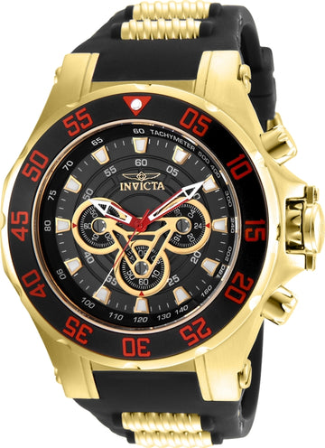 Invicta Men's Chronograph Watch - Marvel Iron Man Black & Gold Dial | 25987