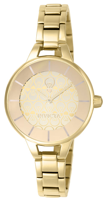 Invicta 22912 Women's Gabrielle Union Quartz Gold Tone Dial Yellow Gold Steel Watch