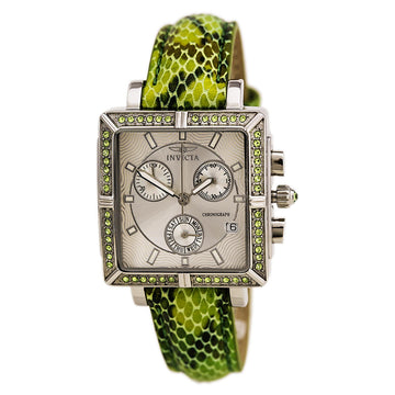 Invicta 10329 Women's Interchangeable Strap Wildflower Crystal Chrono Silver Dial Day-Date Watch