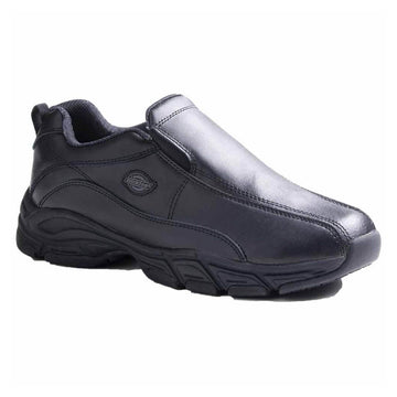 Dickies Men's Work Shoes - Slip Resisting Black Athletic Slip-On | SR4015