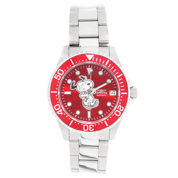Invicta Women's Automatic Watch - Snoopy Character Red Dial Steel Bracelet | 24792