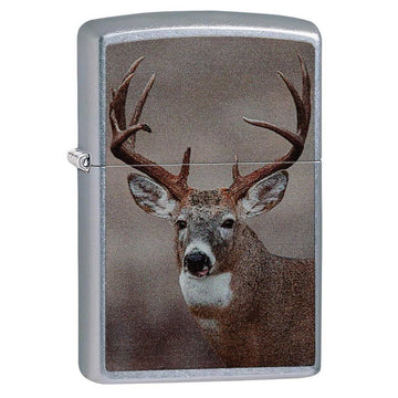 Zippo Windproof Pocket Lighter - Classic Deer Street Chrome | 29081