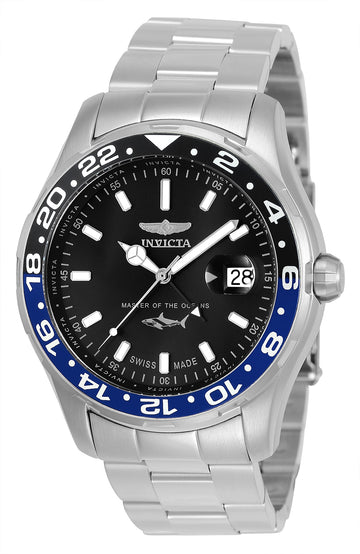 Invicta Men's Bracelet Watch - Pro Diver Swiss Black Dial Stainless Steel | 25821