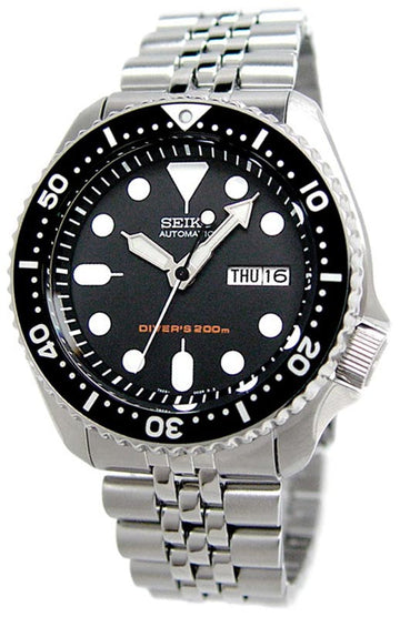 Seiko SKX007K2 Men's Stainless Steel Bracelet Black Dial Automatic Dive Watch