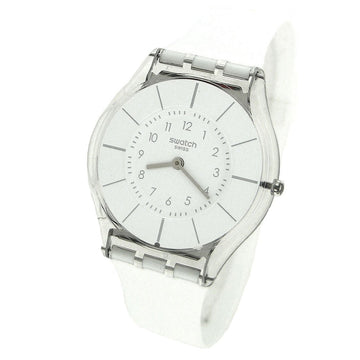 Swatch SFK360 Women's Lifestyle White Classiness White Rubber Strap Watch