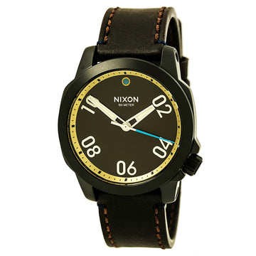 Nixon A4712209 Men's Ranger 40 Brown Dial Brown Leather Strap Watch