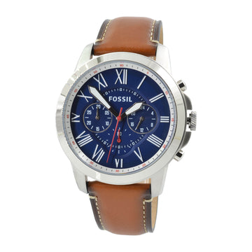Fossil FS5210 Grant Men's Brown Leather Strap Chrono Watch