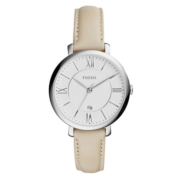 Fossil ES3793 Jacqueline Women's Beige Leather Band Watch