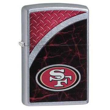 Zippo Windproof Pocket Lighter - NFL San Francisco 49ers Street Chrome | 29377