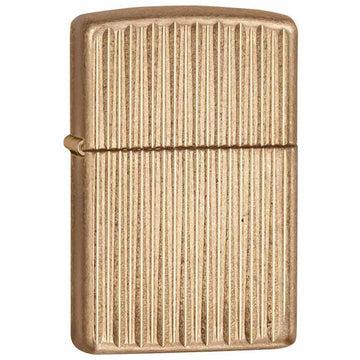 Zippo 28638 Vertikale Goldstreifen Messing Classic Armor Windproof Pocket Lighter