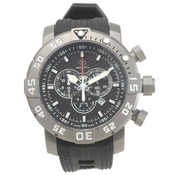 Invicta 14280 Men's Sea Base Grey Bezel Black Dial Black Rubber Strap Chrono Dive Watch