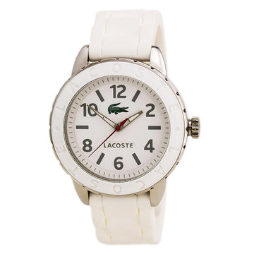Lacoste 2000689 Women's White Silicone Strap Quartz Rio White Dial Watch