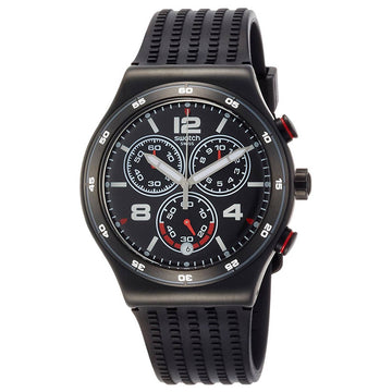 Swatch YVB404 Men's A Traveler's Dream Destination Shanghai Black Dial Rubber Strap Chrono Watch