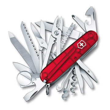Victorinox Swiss Army 53506 Ruby Red Handle SwissChamp Pocket Knife