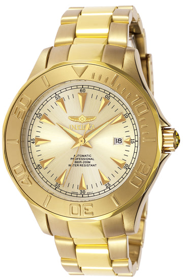 Invicta 7039 Men's Signature Automatic 23k Yellow Gold Plated Watch